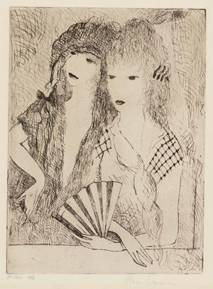 Les Deux Espagnoles (The Two Espagnoles) by Marie Laurencin contemporary artwork