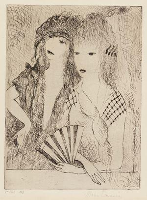 Les Deux Espagnoles (The TwoEspagnoles) by Marie Laurencin contemporary artwork print