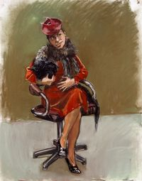 Mother Wears the Wolf's Pelt by Paula Rego contemporary artwork works on paper, drawing