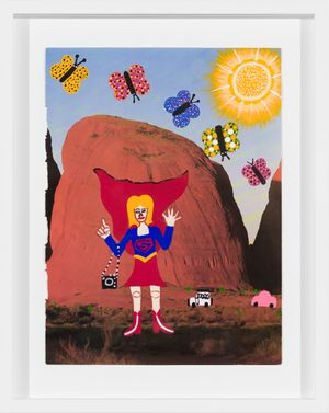 Super Girl on Country by Kaylene Whiskey contemporary artwork
