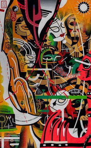 The Broken Mephisto by Nisky Yu contemporary artwork