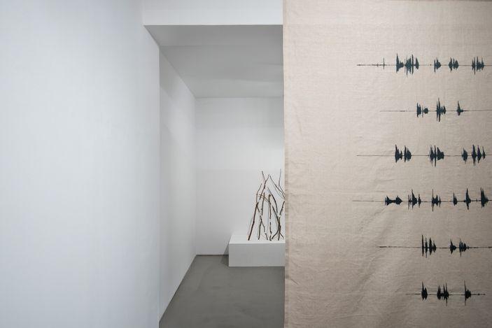 Exhibition view: Julia Llerena, Caen Sílabas Negras, Sabrina Amrani, Madera, 23, Madrid (2 June–24 July 2021). Courtesy Sabrina Amrani, Madrid.