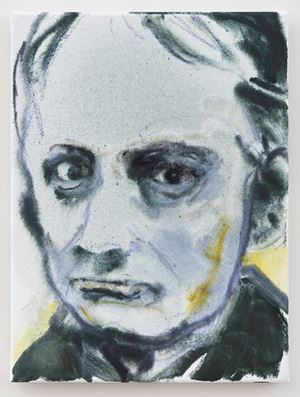 Charles Baudelaire by Marlene Dumas contemporary artwork painting, works on paper