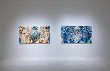 Jin Meyerson,Broadacre(2013-2014). Oil on canvas. 188 x 410 cm. Courtesy of the artist and Pearl Lam Galleries.