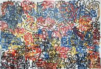 Cold Spaghetti by Mr Doodle contemporary artwork painting, works on paper