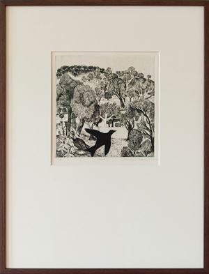 Crow by Mrinalini Mukherjee contemporary artwork print