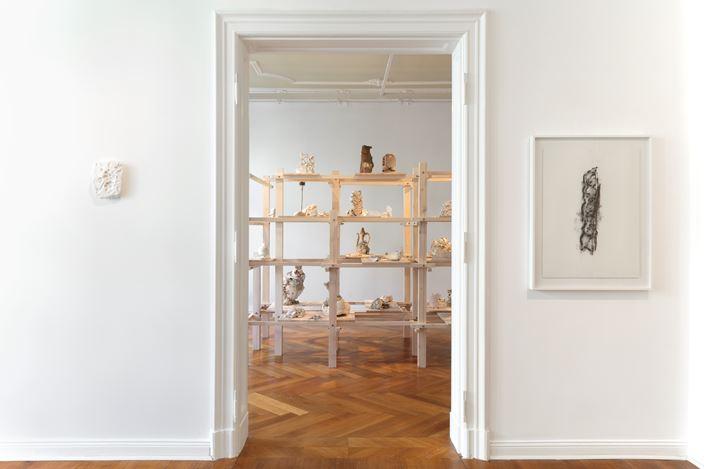 Exhibition view: Burçak Bingöl, Interrupted Halfway Through, Zilberman Gallery, Berlin (24 April–27 July 2019). Courtesy Zilberman Gallery. Photo: CHROMA.