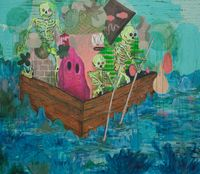 relax, we came to party by Pow Martinez contemporary artwork painting