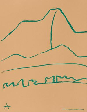 Montagne 6 by Etel Adnan contemporary artwork