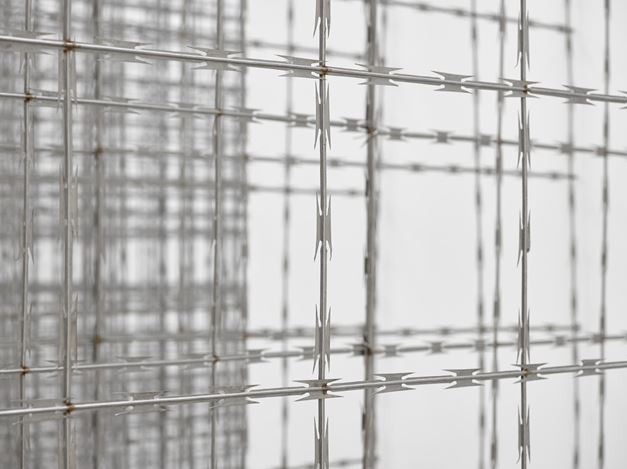 Exhibition view:Santiago Sierra, Impenetrable Structure,Lisson Gallery, London (14 July–26 August 2017). Lisson Gallery, London.