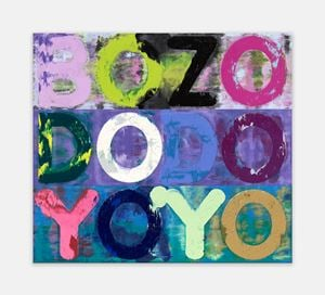 Bozo by Mel Bochner contemporary artwork