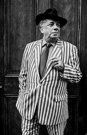 George Melly by Michael Woods contemporary artwork
