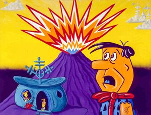 FLINSTONES by Kenny Scharf contemporary artwork