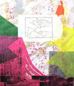 Encroachment II (Peace air drop) by Shezad Dawood contemporary artwork
