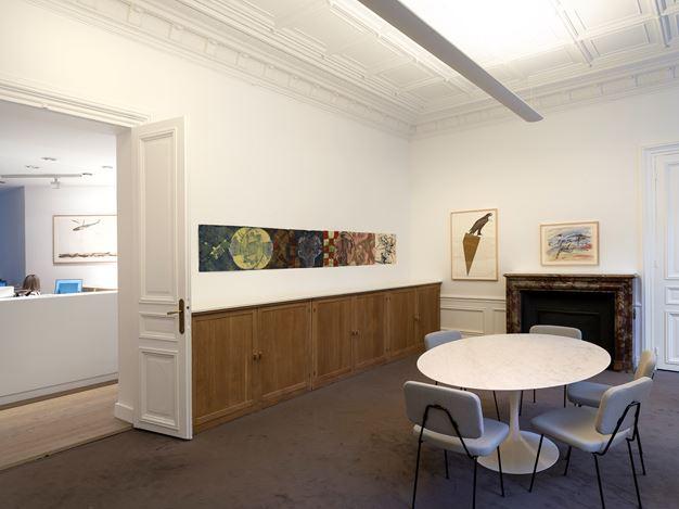 Exhibition view: Nancy Spero, The Warriors, Galerie Lelong & Co., 13 Rue de Téhéran, Paris (14 March–11 May 2019). Courtesy Galerie Lelong & Co., Paris.