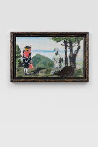 Vision des Poussin by Markus Lüpertz contemporary artwork mixed media