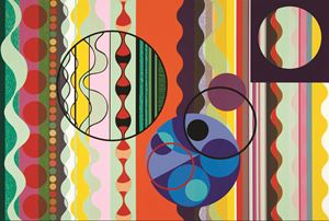 Sugar by Beatriz Milhazes contemporary artwork