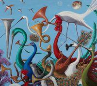 Oom-pah by Joanna Braithwaite contemporary artwork painting