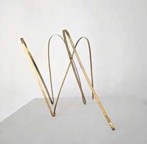 Untitled Brass 1 by Michael Amrhein contemporary artwork
