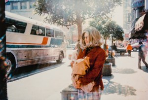 Roberta at bus station by Lynn Hershman Leeson contemporary artwork photography