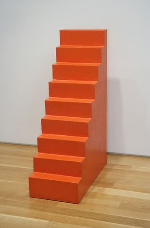 Wolfgang Laib, Untitled (Stairs) (2002). Burmese red lacquer and wood. 125 x 41 x 84 cm.© Wolfgang Laib. Courtesy Sperone Westwater, New York.