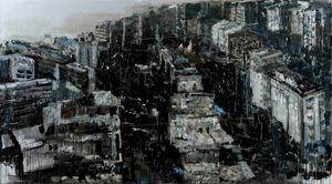 Black (the city) by Bogdan Vladuta contemporary artwork painting
