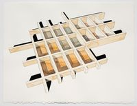 Study for Cellular Grid #6 by Andrea Zittel contemporary artwork painting