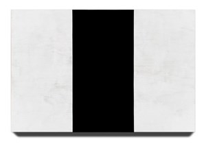 Untitled (White Black White, Beveled) by Mary Corse contemporary artwork