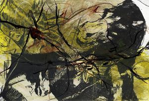 Goya série n°16 by Arnulf Rainer contemporary artwork