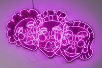 Wash N' Set [Pink] by Tschabalala Self contemporary artwork mixed media