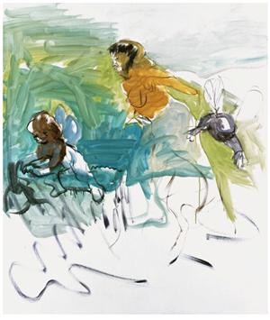Hummelmadonna by Siegfried Anzinger contemporary artwork