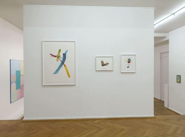 Exhibition view: Myriam Holme, Cigdem Aky, Henrik Eiben, Sophie Bouvier Ausländer, Bernhard Knaus Fine Art, Frankfurt (6 November 2020–30 January 2021). CourtesyBernhard Knaus Fine Art, Frankfurt.