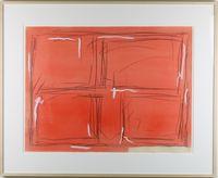 Red by Kishio Suga contemporary artwork painting