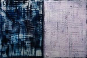 (focus icon | bank notebook) blue and white by Aditya Novali contemporary artwork