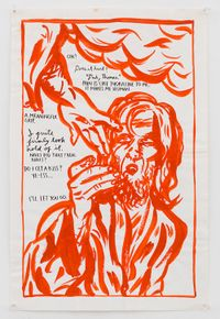 No Title (Oh! Does it...) by Raymond Pettibon contemporary artwork painting, works on paper, drawing
