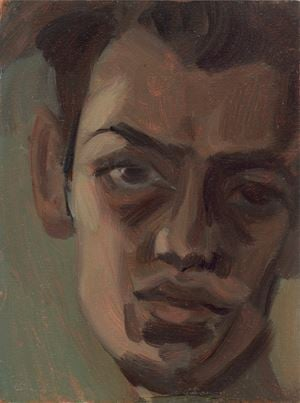 Portrait in Earth Tones by Jake Grewal contemporary artwork