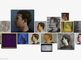 "Zhu Jia<br><em>The Face of Facebook </em><br><span class=""oc-gallery"">ShanghART</span>"
