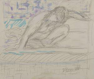 Nu accroupi by Pierre Bonnard contemporary artwork