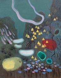 夜山1号   Night Mountain No.1 by Ji Lei contemporary artwork painting, works on paper