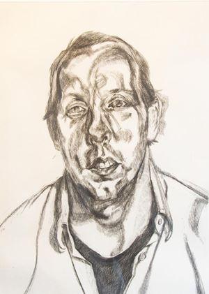 David Dawson by Lucian Freud contemporary artwork