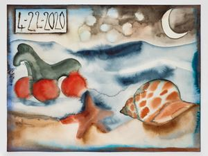 4-22-2020 by Francesco Clemente contemporary artwork