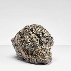 Skull by Carolein Smit contemporary artwork sculpture, ceramics