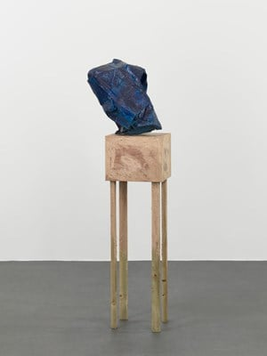 untitled: blue/crushed; 2018 by Phyllida Barlow contemporary artwork