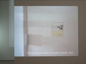 I'm trying to listen to your words, but by Lee Kit contemporary artwork