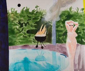 American nude by Nicholas Woods contemporary artwork