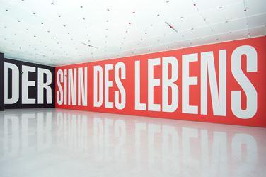 Exhibition view: Barbara Kruger, Believe + Doubt, Kunsthaus Bregenz (2013).© Kunsthaus Bregenz. Courtesy Magers, Berlin. Photo: Christian Hinz.