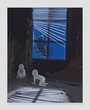 Shit Mom (Broken Window) by Tala Madani contemporary artwork