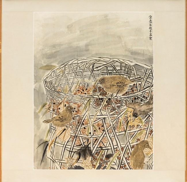 The grain eating birds by Yun-Fei Ji contemporary artwork