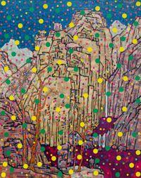 点彩山水 Stippling Landscape by Xue Song contemporary artwork mixed media