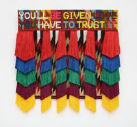 YOU'LL BE GIVEN LOVE by Jeffrey Gibson contemporary artwork painting, works on paper, sculpture, textile